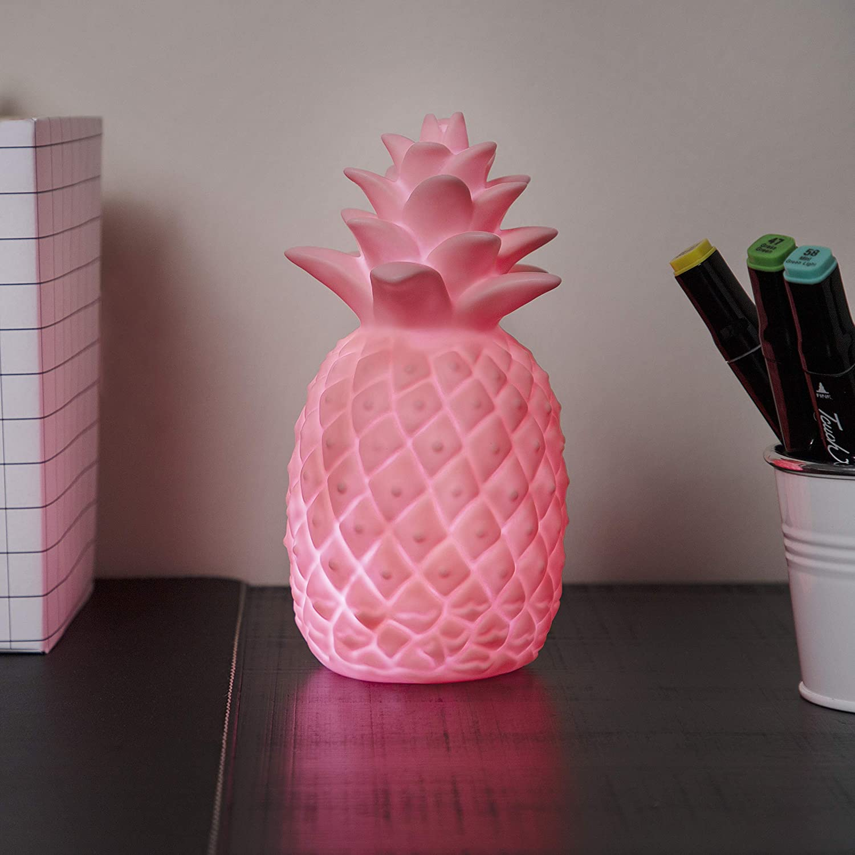 9 Plastik LED-Stimmungslicht f/ür Kinder 5 x 18 cm Rosa Ananas-Design Nachtlicht batteriebetrieben Smartwares IDE-60001