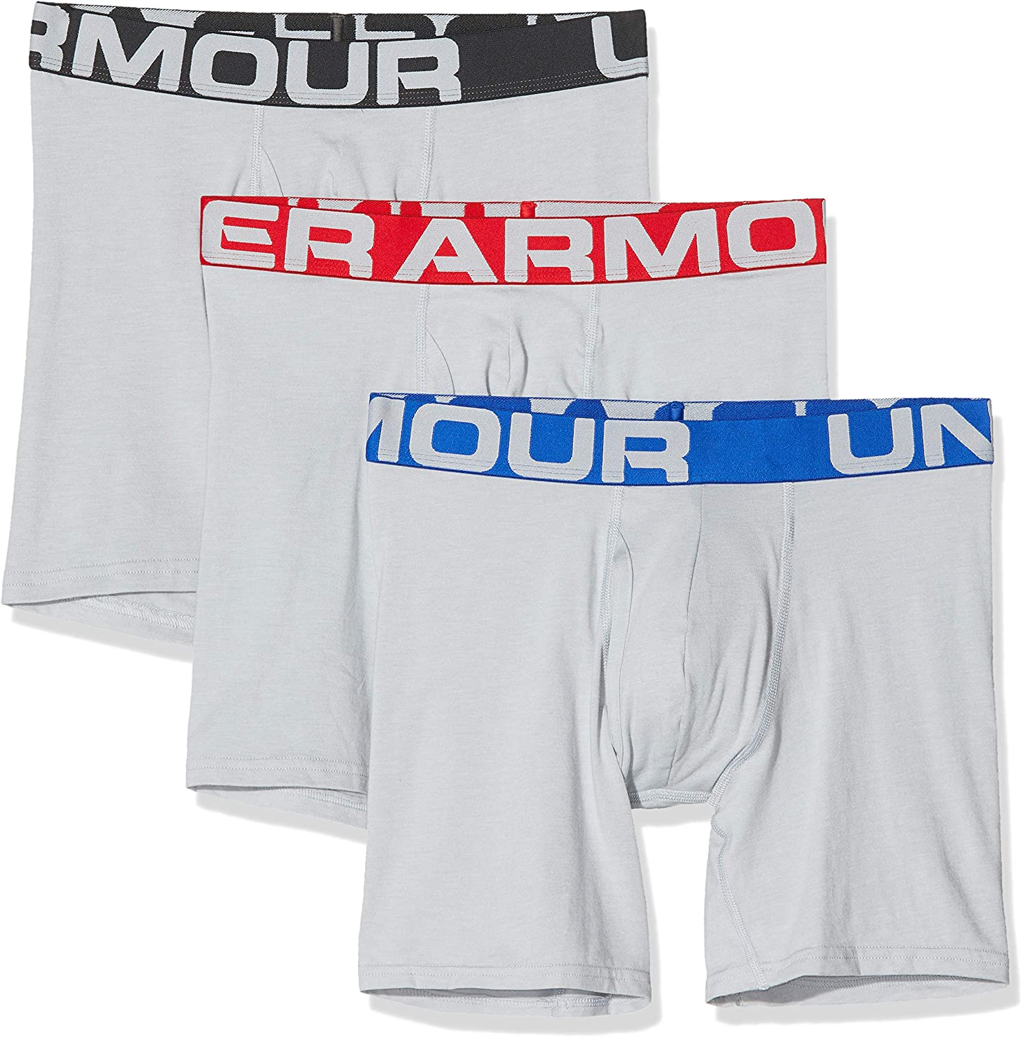 Under Armour Men's Charged Cotton 6-inch Boxerjock 3-Pack: Clothing