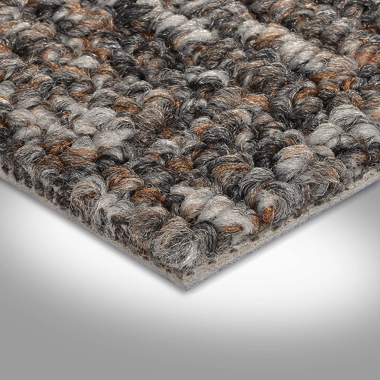 400 und 500 cm Breite Gr/ö/ße: 6 x 4m grau braun Meterware Teppichboden Auslegware verschiedene Gr/ö/ßen 200 Schlinge gemustert 300