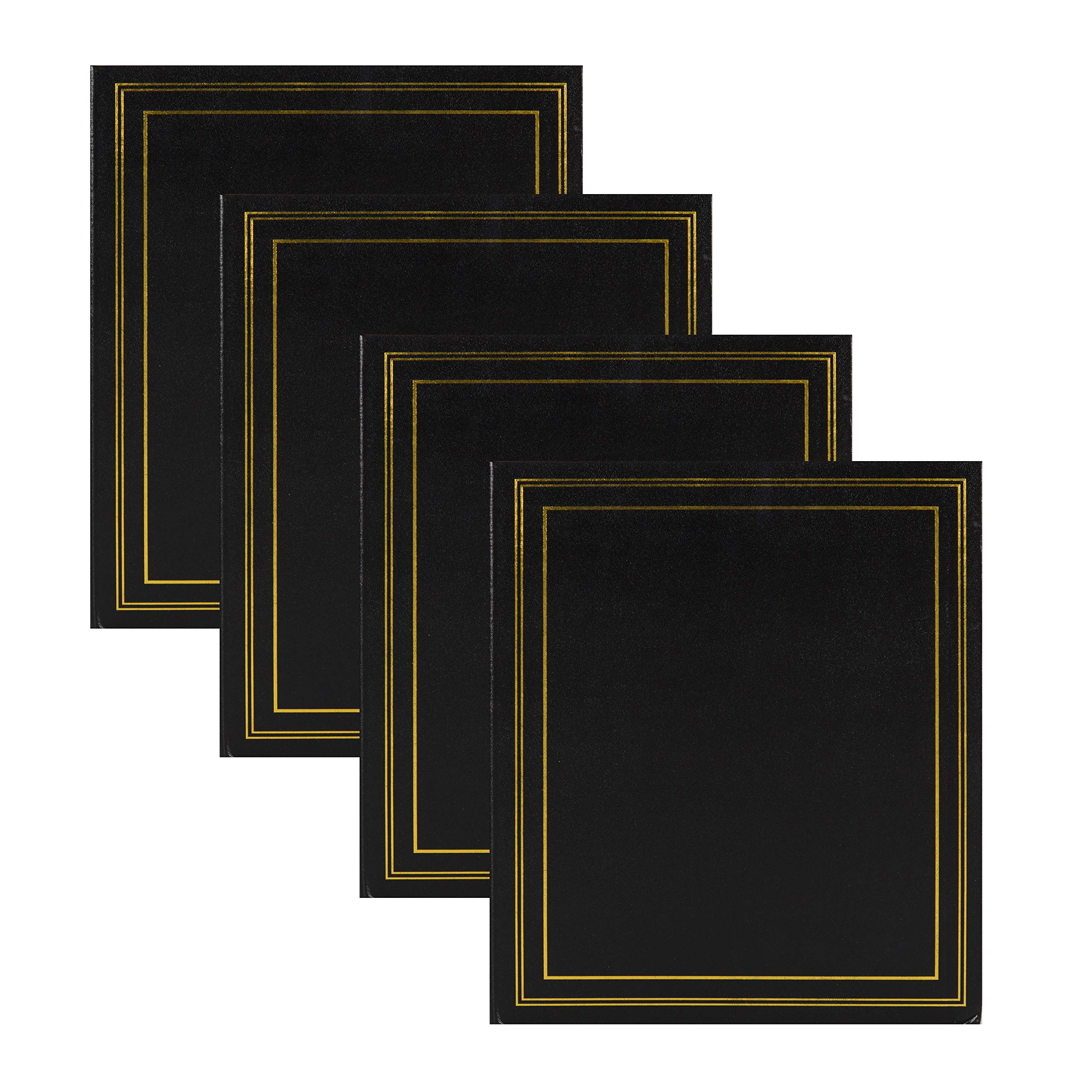 DesignOvation Traditional Photo Albums, Holds 440 4x6 Photos, Set of 4, Black by DesignOvation