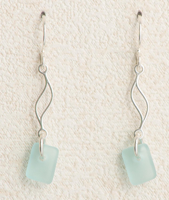 Sea Glass Journey Earrings with Ocean Glass