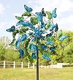 Wind & Weather KA6925 Metal Kinetic Butterfly Wind Spinner
