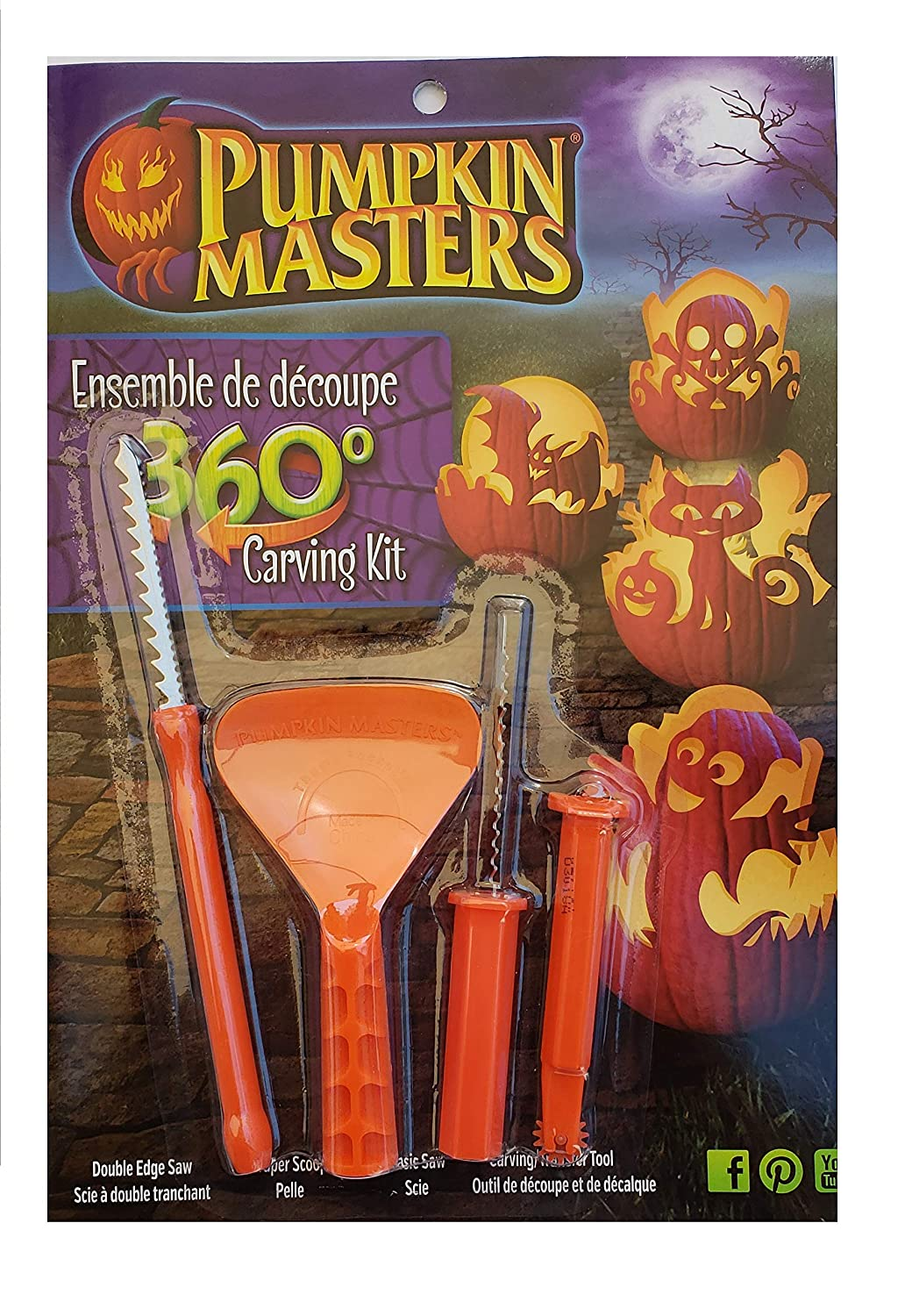 Pumpkin Masters Pumpkin Carving Kit 360 Degree Carving Kit