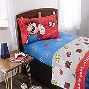 Nintendo Super Mario Odyssey Kids Bedding Soft Microfiber Sheet Set, Twin Size 3 Piece Pack