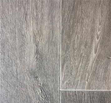 PVC Vinyl Bodenbelag Modern Geriffelte Holzoptik Grau Braun | PVC Belag  Verfügbar In