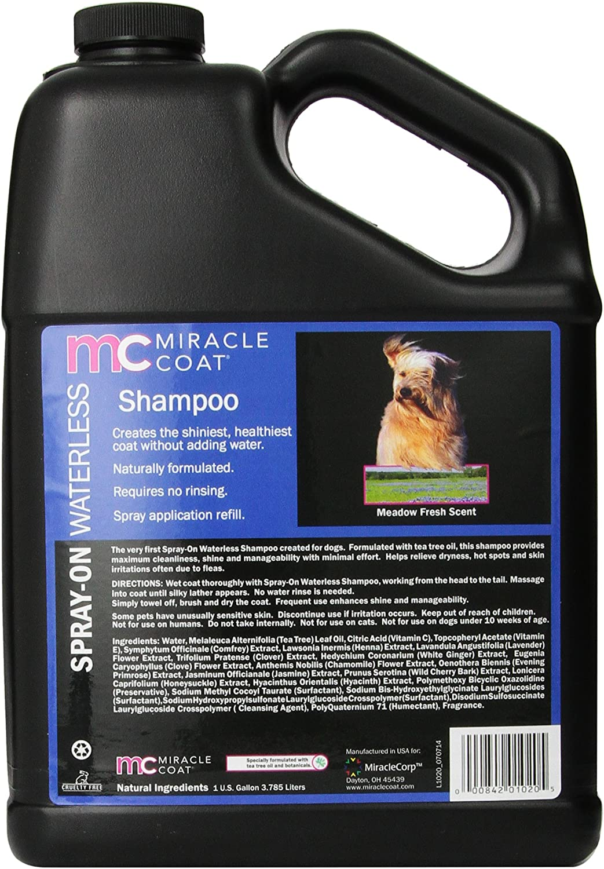 Miracle Coat Waterless Dog Shampoo, 1-Gallon
