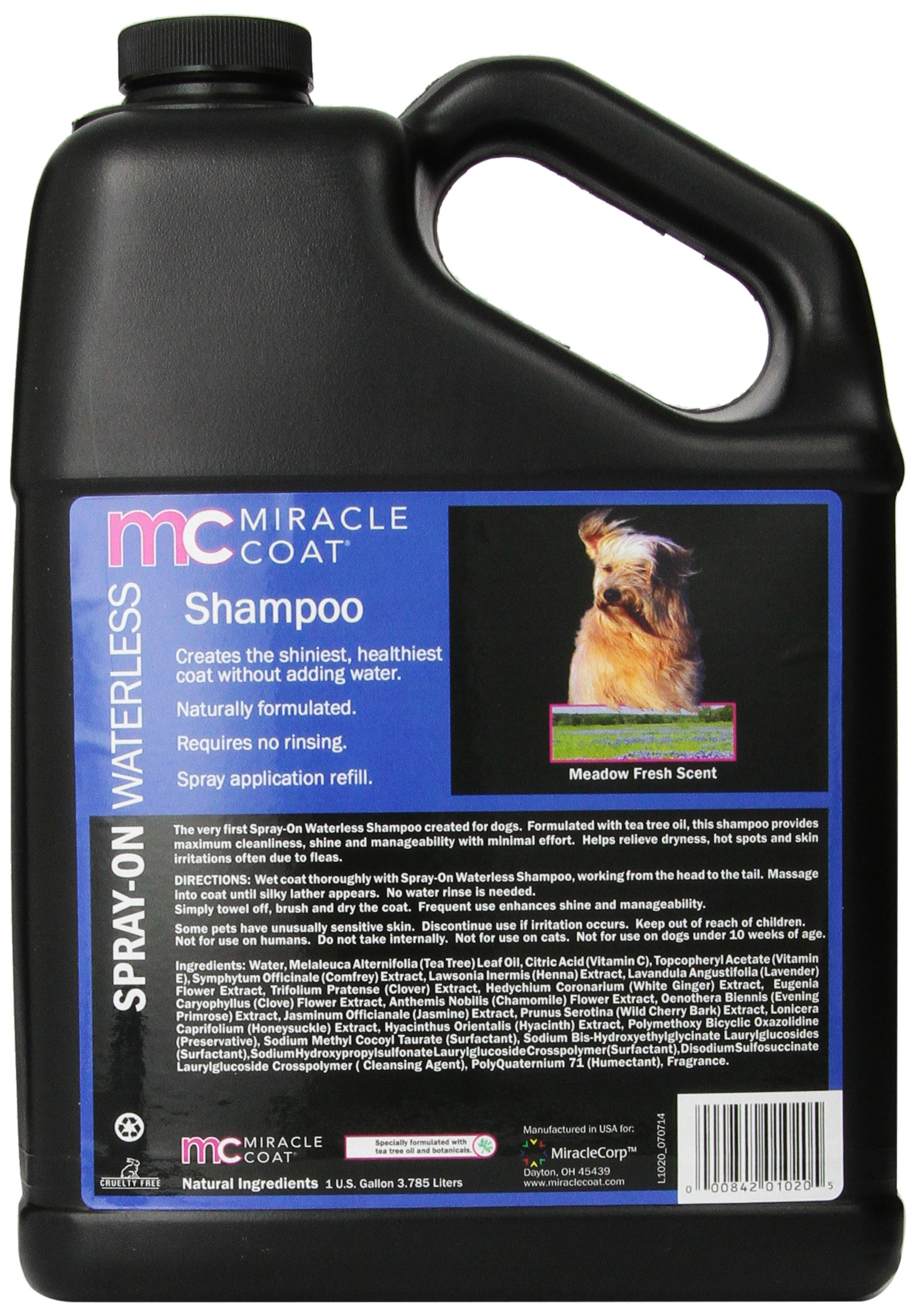 Miracle Coat Waterless Dog Shampoo, 1-Gallon by Miracle Coat