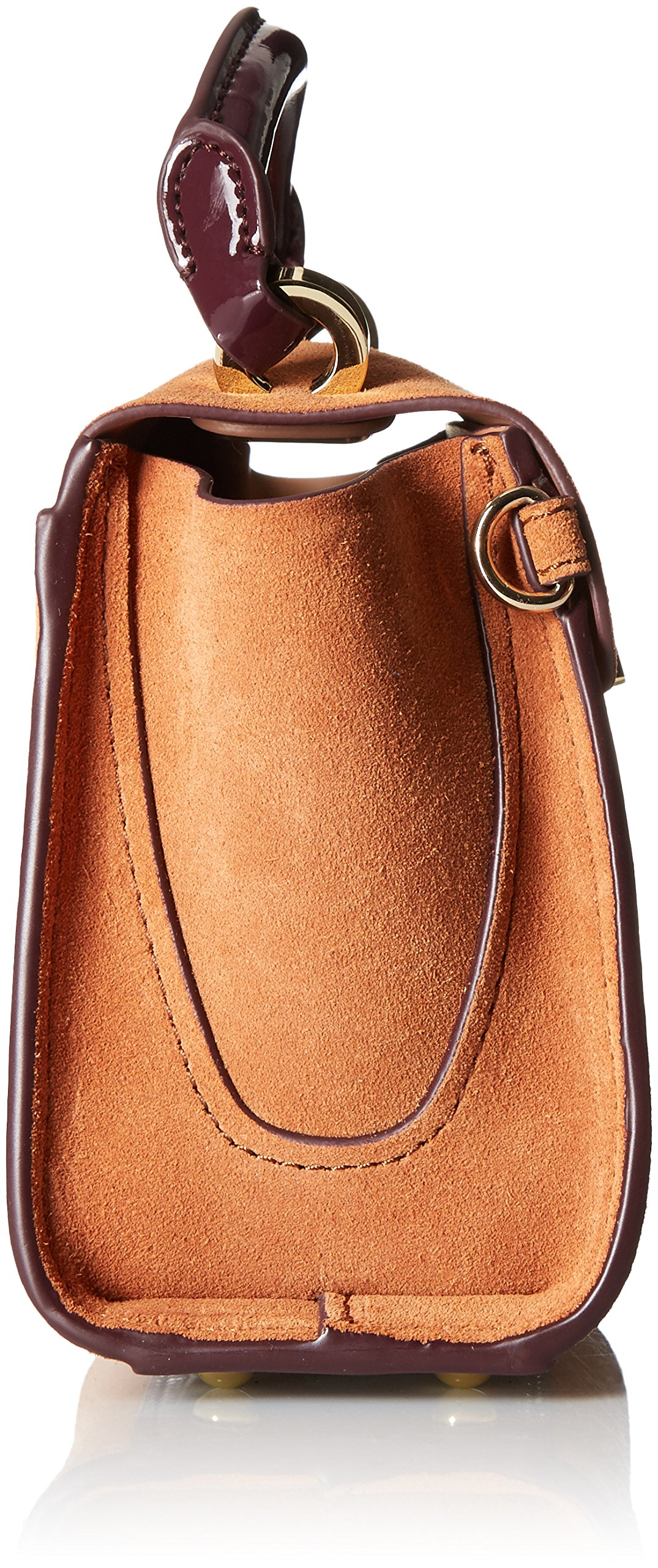 ZAC Zac Posen Eartha Iconic Top Handle Mini-Suede Colorblock W/ Baglace by ZAC Zac Posen (Image #3)
