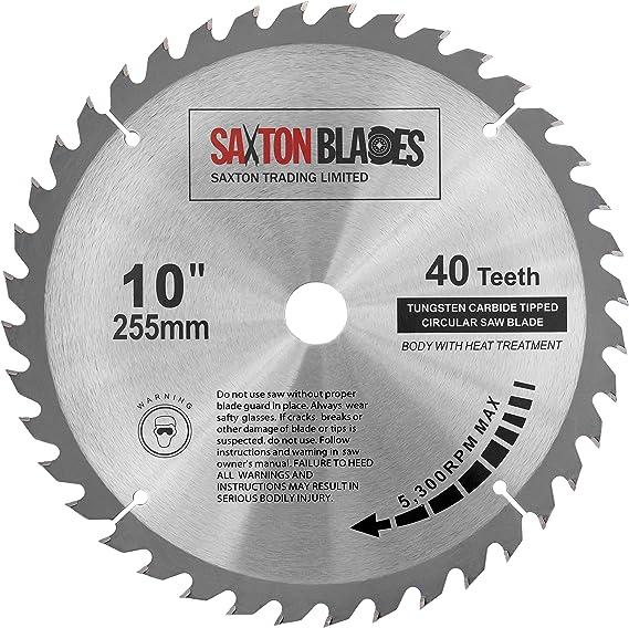 per seghe Evolution Rage Lama per sega circolare per legno 255 mm x 80 denti x 25,4 mm Saxton TCT