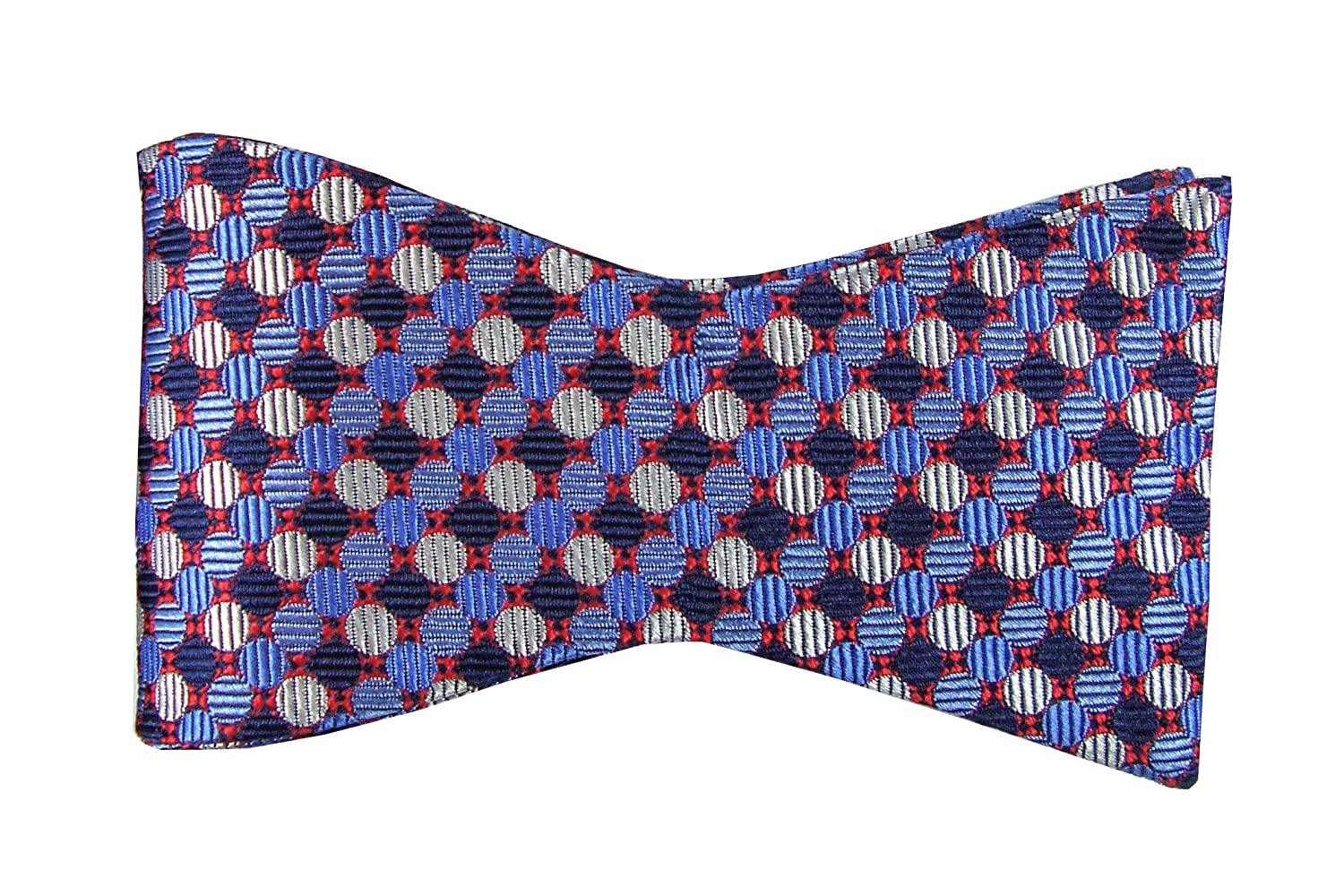 TieDeluxe Mens Self Bow Tie Jacquard Woven Silk Adjustable Various Colours BT1064