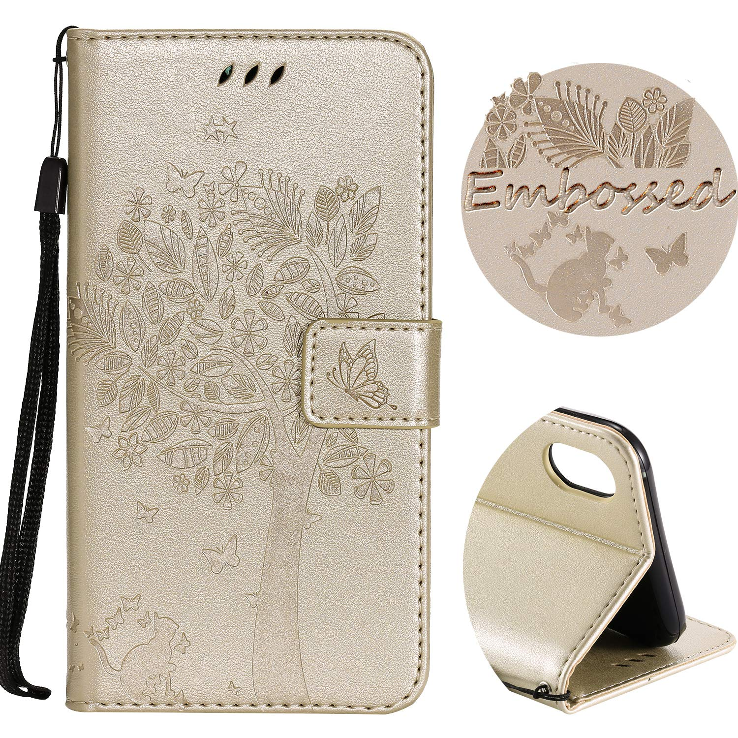For iPhone XS Max Wallet Case, SibyTech® Flower Tree Design, PU Leather TPU Shockproof, Card Slots Magnetic Closure Stand Function Folio Flip Book Case Cover for iPhone XS Max 6.5 inch (Grey) SibyTech® Flower Tree Design