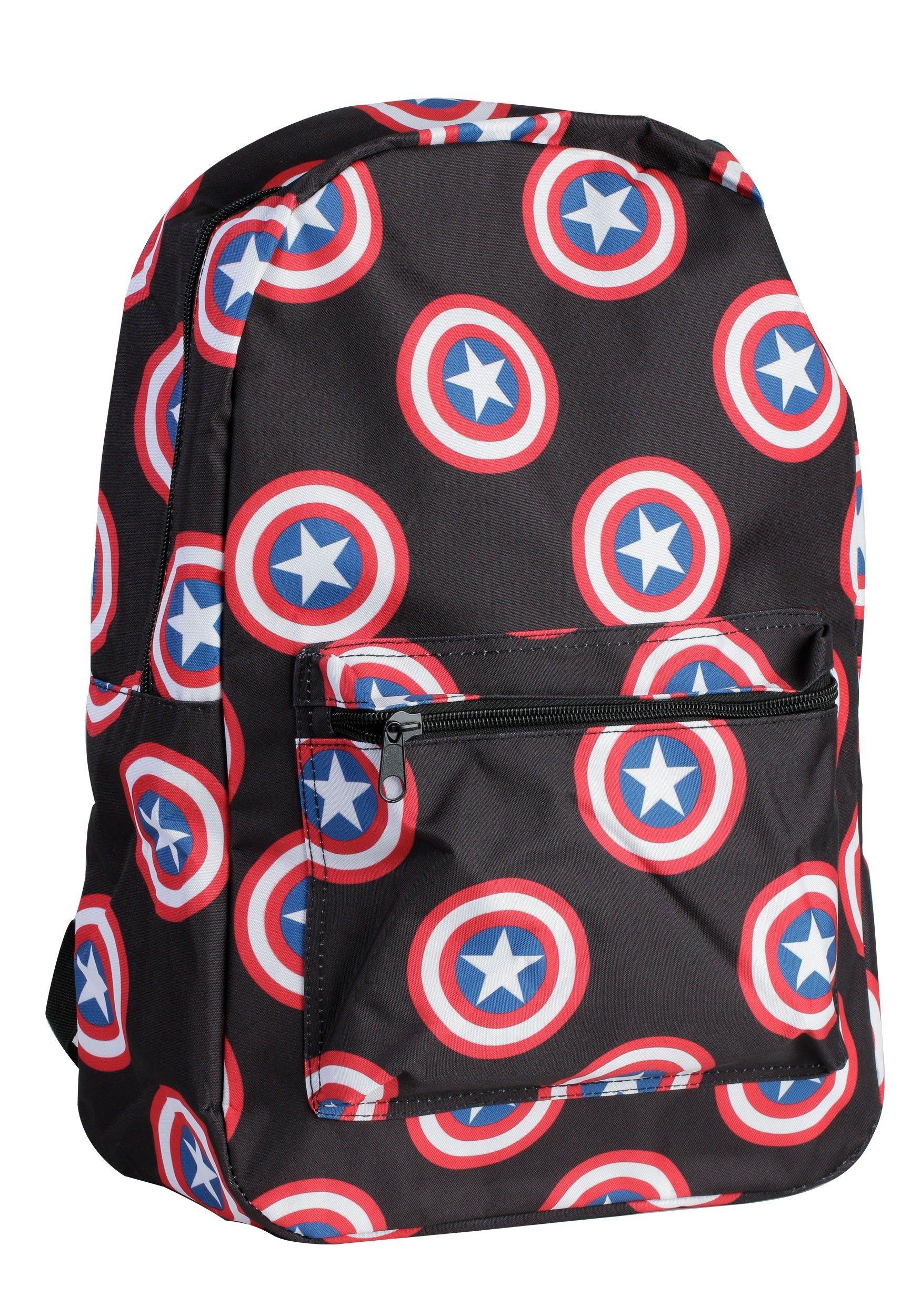 Marvel's Captain America Logo All Over Print Backpack