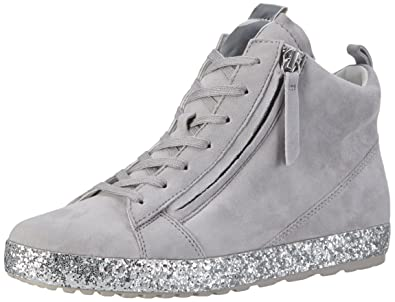 Gabor Shoes Womens Comfort High-Top Sneakers, Grey (Lightgreykristall),4 UK