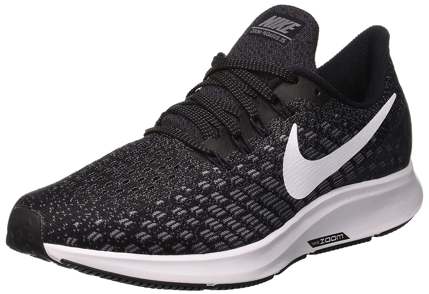 Nike Womens Air Zoom Pegasus 35 Running Shoes B00JE50XXQ 9.5 M US|Black/White/Gunsmoke/Oil Grey