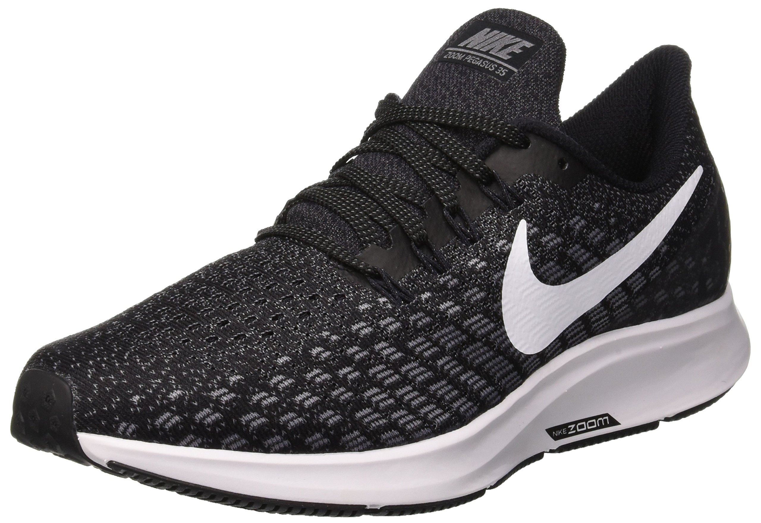 Nike Air Zoom Pegasus 35 Sz 8 Womens Running Black/White-Gunsmoke-Oil Grey Shoes by Nike