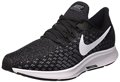 Nike Womens Air Zoom Pegasus 35 Running Shoes Black White Gunsmoke Oil Grey 3590552b83b3