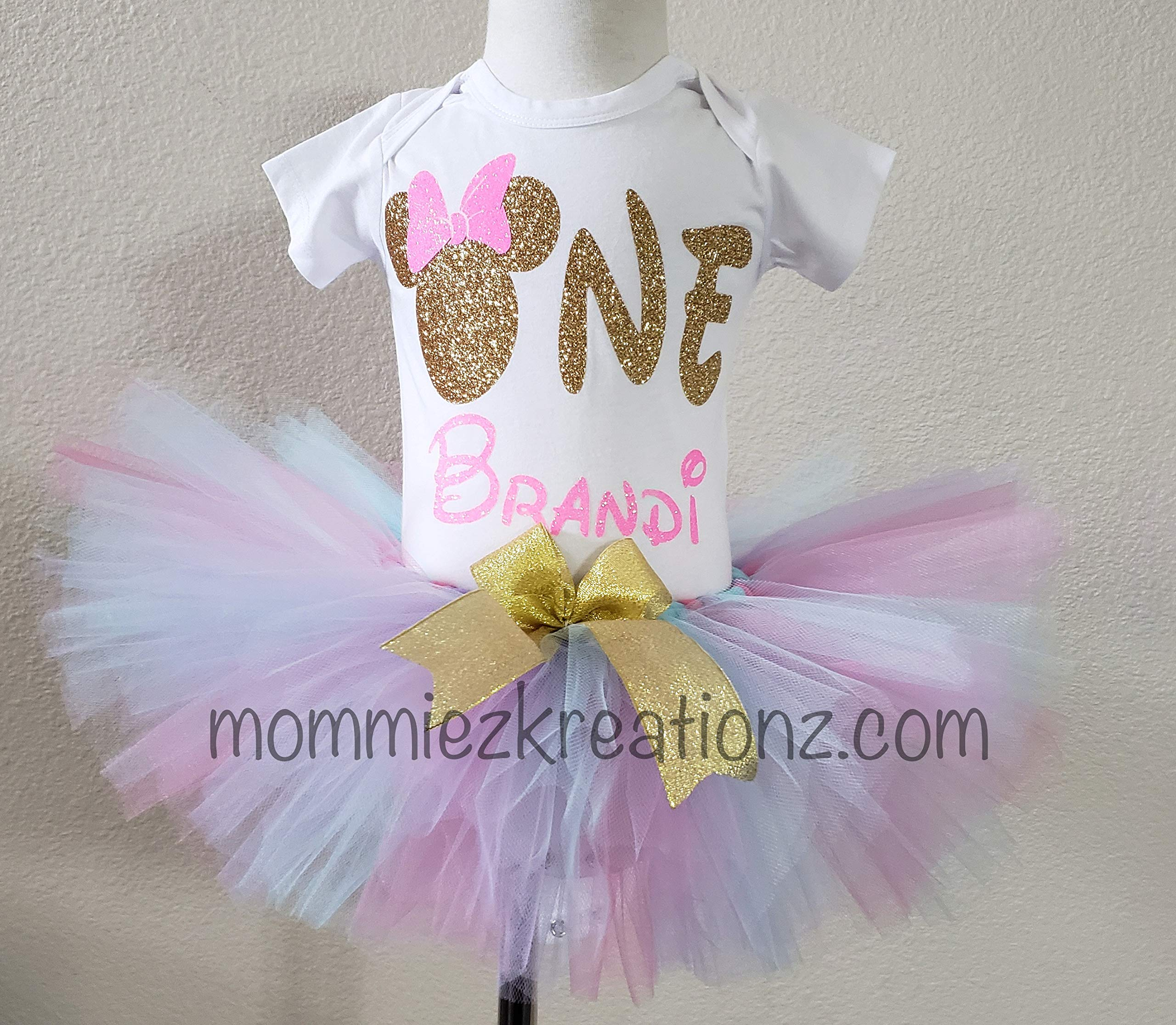 Minnie Mouse Tutu Set, Minnie 1st Birthday Outfit, ONE tutu set