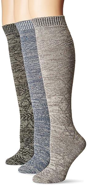 91b56454ba1 Muk Luks Women s 18   Knee High Confetti Diamond Socks