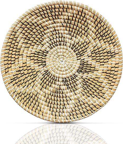 Hanging Wall Basket Decor Boho Rattan Wall Decor Wicker Wall Art Seagrass Decorative Bowl Set 4 Woven Basket Wall Decor Chicnchill Woven Fruit Basket
