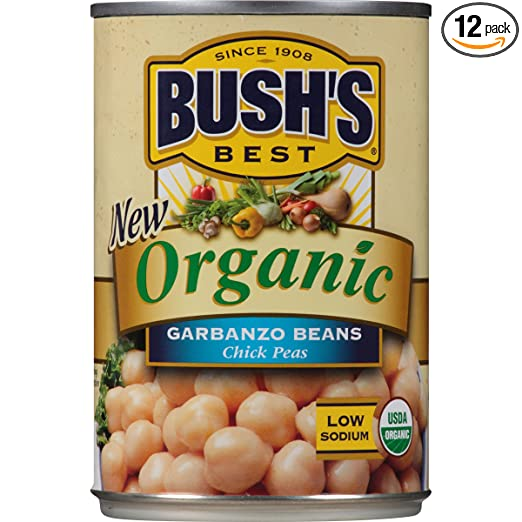 Organic can of chickpeas