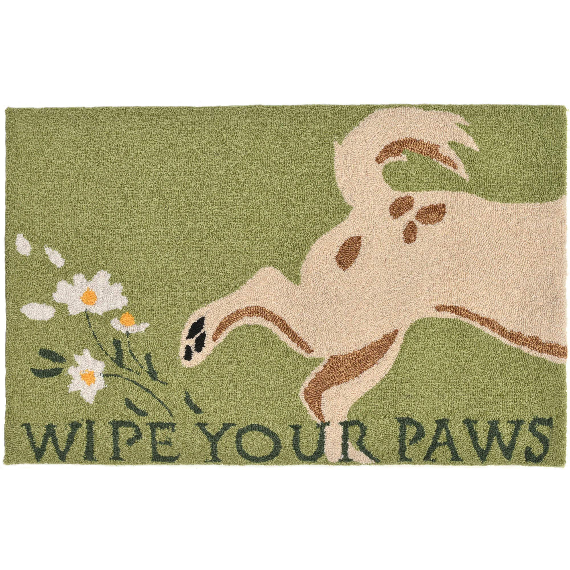 Liora Manne FT123A53206 Whimsy Clean Dog Rug, Indoor/Outdoor, 24'' x 36'', Green