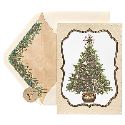 Elegant Christmas Ornaments.Papyrus Elegant Gem Christmas Tree Christmas Cards Boxed