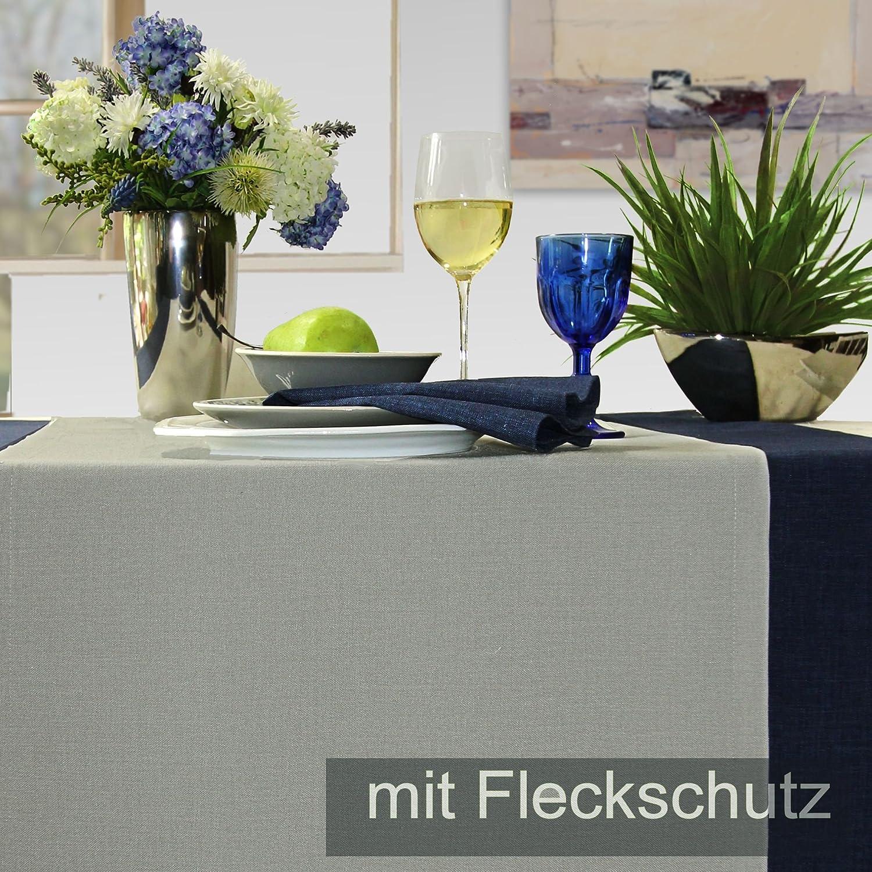 Sander 53614 LOFT Tischdecke 150x200 Granit Stein Taupe (Fb. 27) mit Fleckschutzausruestung
