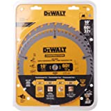 DEWALT DW3106P5 2 Blade 10-Inch 60-Tooth Crosscutting Saw Blade and 10-Inch 32-Tooth General Purpose Saw Blade Combo…