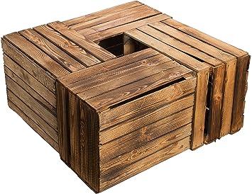Kistenkolli Altes Land Juego de 4 Massive Fruta (Manzana Caja Vino Caja de Madera Multiusos + + + 49 x 42 x 31 cm: Amazon.es: Jardín