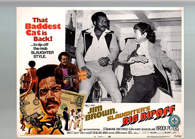 Jim Brown Slaughter >> Amazon Com Movie Poster Slaughter S Big Rip Off Jim Brown