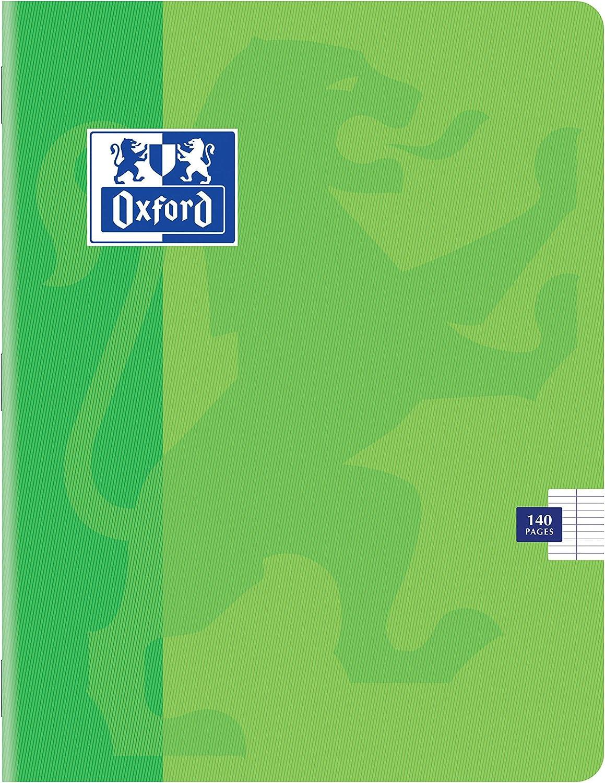OXFORD Classique Lot de 5 Cahiers Agraf/és Petits Formats 17 x 22cm 140 Pages Grands Carreaux Sey/ès 90gr Couleurs Assorties