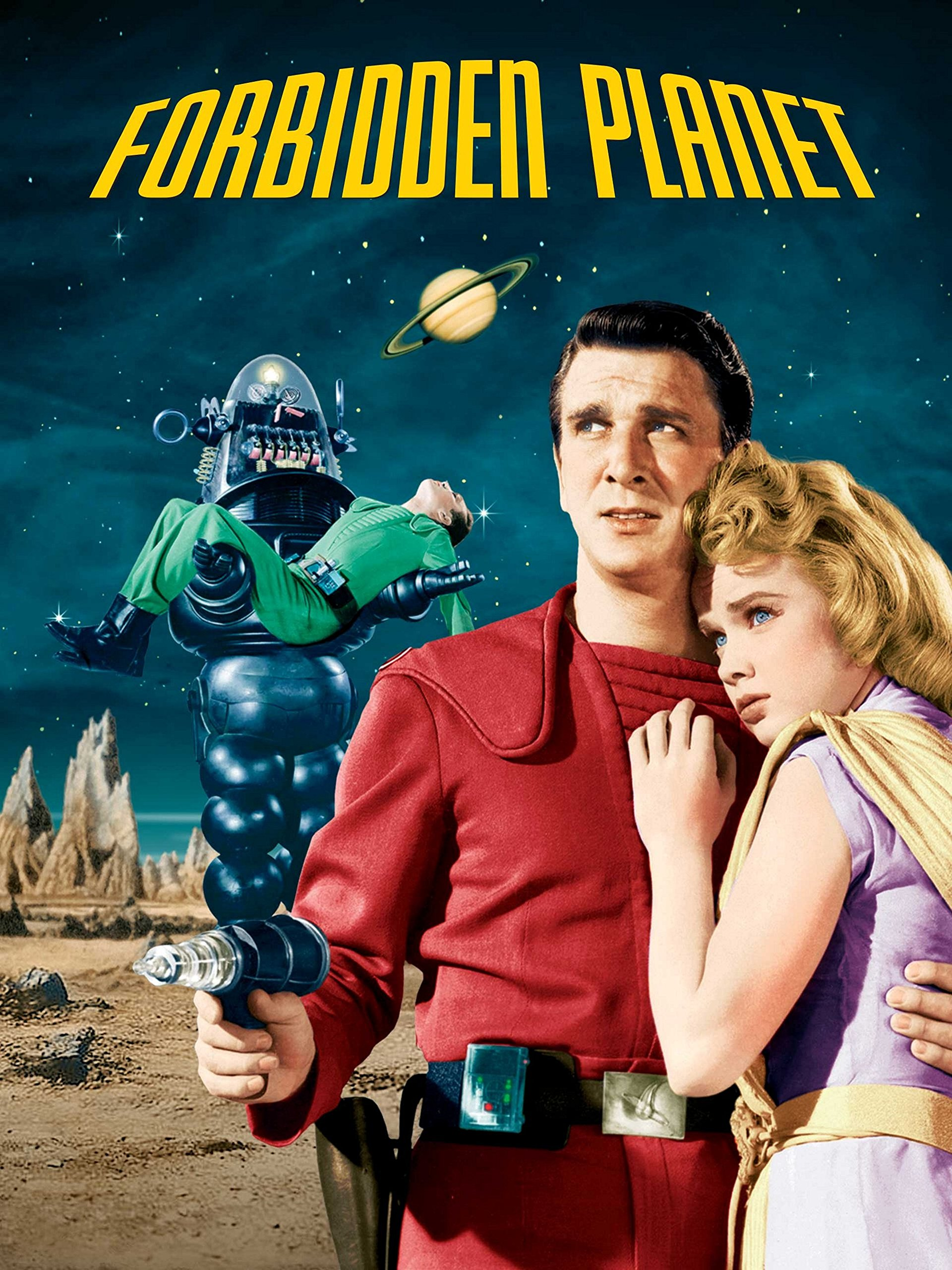 Forbidden Planet Leslie Nielsen with copy Auto Poster