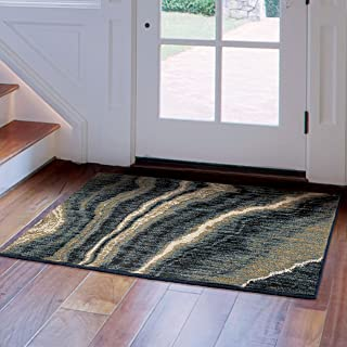 "product image for Orian Impressionist Stone Area Rug, 2'6"" x 3'8"", Indigo"