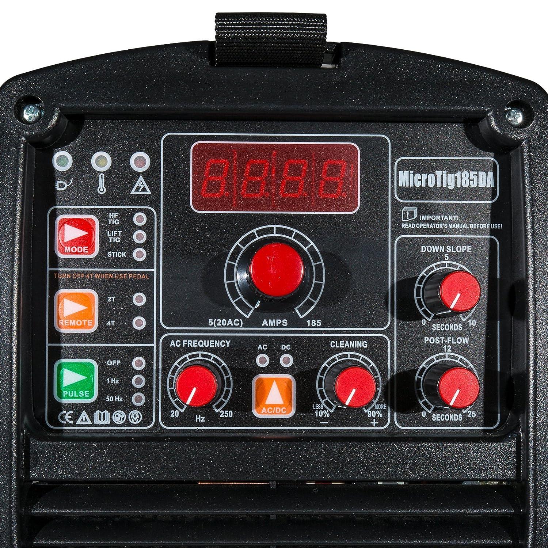 Tig Wig sudor dispositivo AC DC NTF Micr otig de 185 Da Pulse MMA sudor Inverter HF IGBT: Amazon.es: Bricolaje y herramientas
