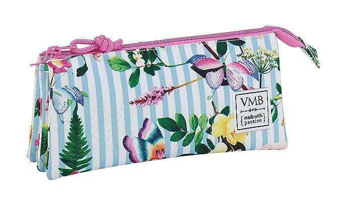 Vicky Martin Berrocal SAFTA Estuche Escolar Garden Oficial 220x30x100mm: Amazon.es: Ropa y accesorios