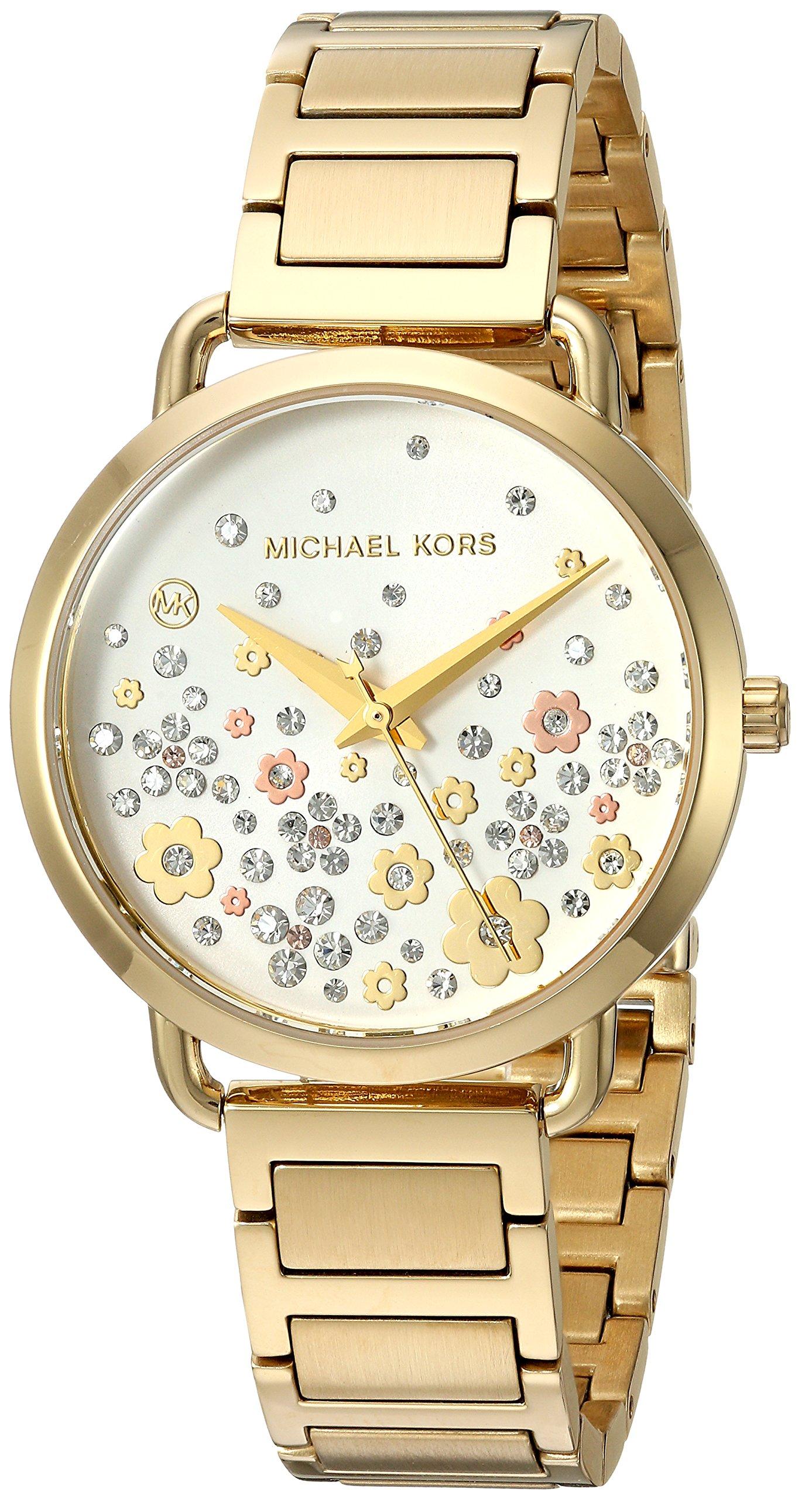 Michael Kors Women's 'Portia' Quartz Stainless Steel Casual Watch, Color:Gold-Toned (Model: MK3840)