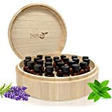 Large Essential Oil Box - Holds 37 Bottles - Real Wood Storage Organizer for 5ml, 10ml and 15ml and Roller Bottles - Sustainable Raw Finish can be Painted & Stained