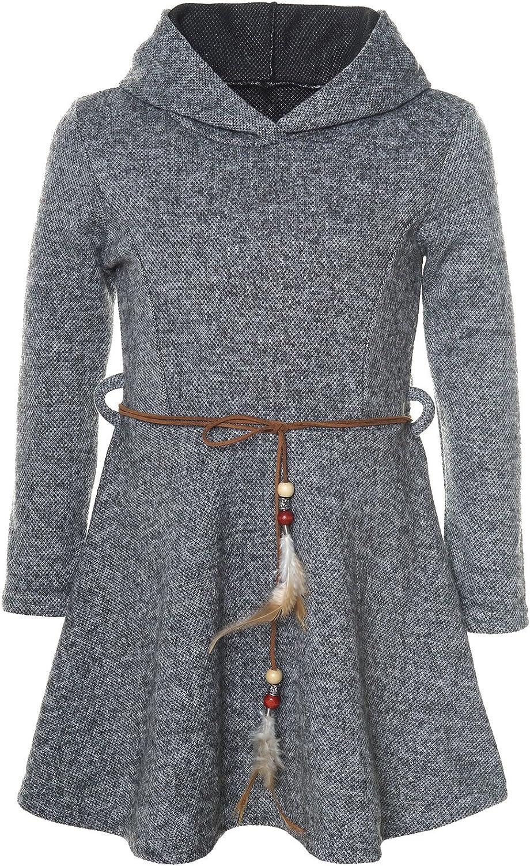 BEZLIT M/ädchen Kleid Kapuze Langarm 21578