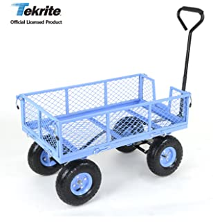TEKRITE Heavy Duty Lawn/Garden Utility Cart/Wagon With Removable Side  Meshes, 400