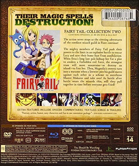 Amazon com: Fairy Tail: Collection Two (Episodes 25-48) [Blu