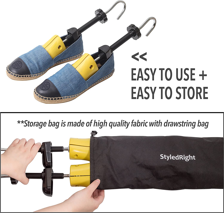 Plastic Shoe Stretcher Stretch Length /& for Wide Feet Adjustable 2-way Shoe Stretcher Pair for Men /& Women Unisex