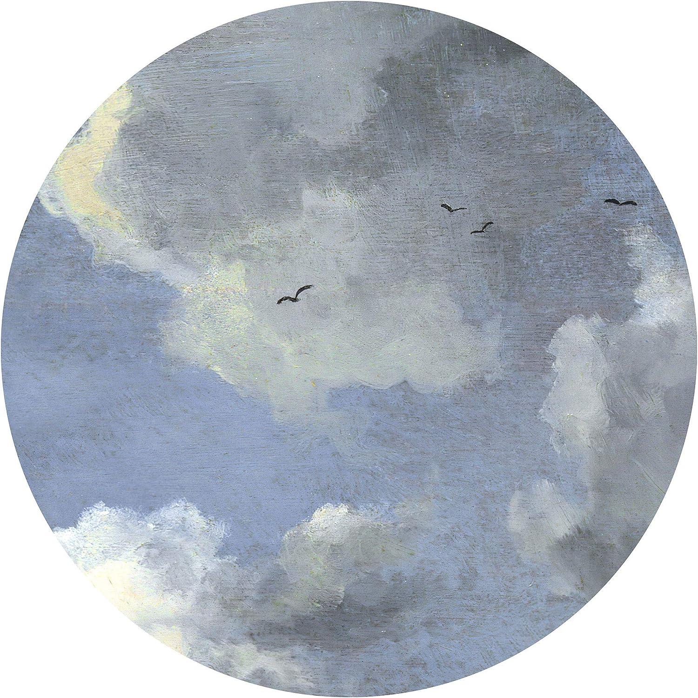 1 St/ück Wald Wandtapete /Ø Durchmesser 125 cm Landschaftsmotiv D1-039 Komar DOT runde und selbstklebende Vlies Fototapete Blue Valley Tapete Designtapete Wandbelag Dekoration Wandbild