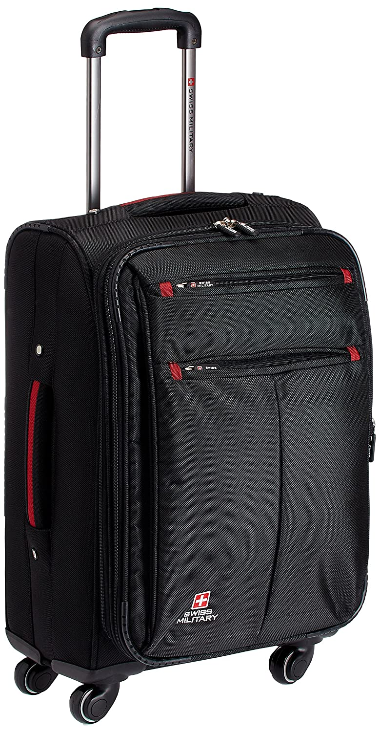608da3cd6 Swiss Military Polyester 30 liters Black Trolley Suitcase (TL-5):  Amazon.in: Bags, Wallets & Luggage