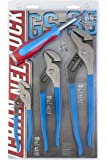 Channellock GS-3S 3 Piece Straight Jaw Tongue and Groove Pliers Set with bonus 6-in-1 CODE BLUE Screwdriver | Laser Heat…