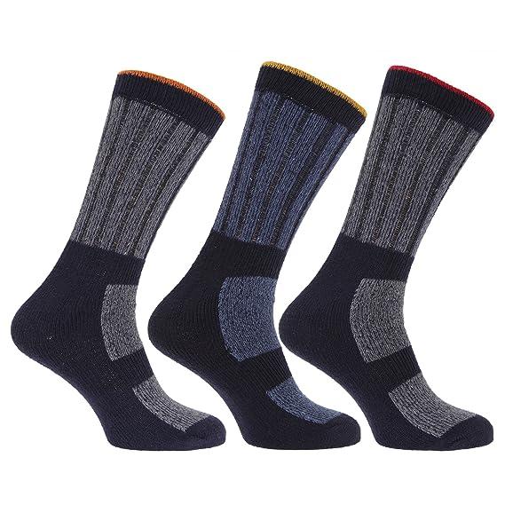 Calcetines Extra Grande trabajo resistentes tallas 45-49 (Pack de 3) (Ideal