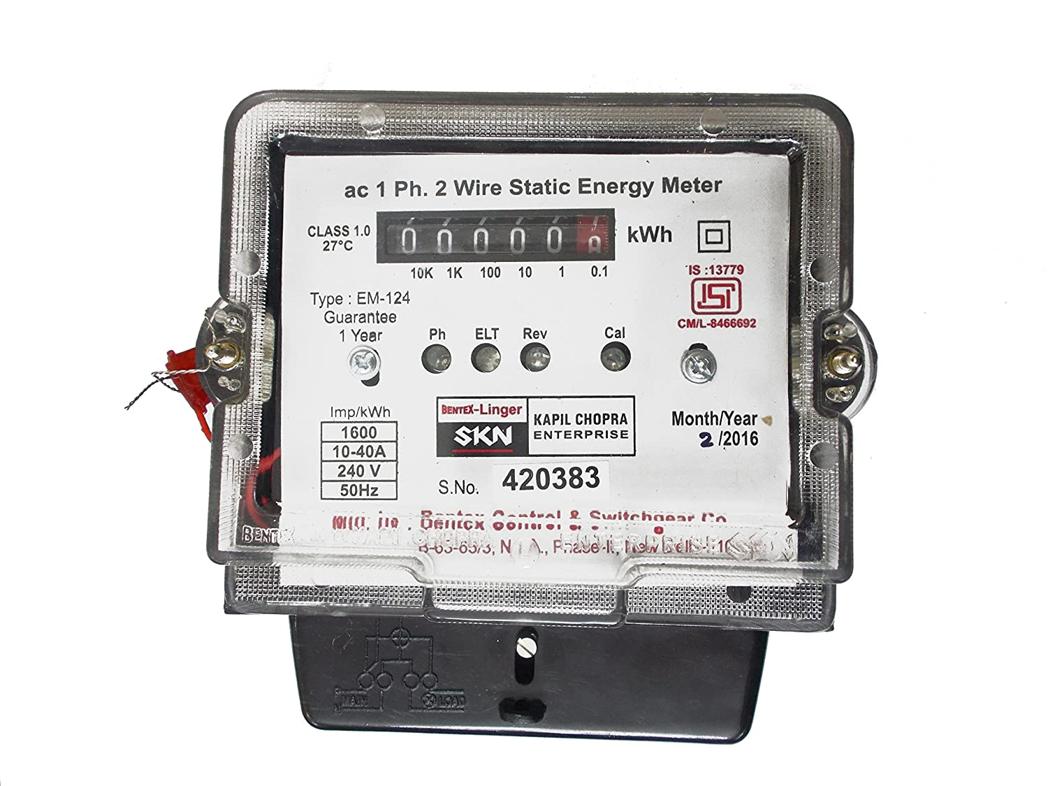SKN Single Phase Static Electricity Meter: Copper: Amazon.in ...