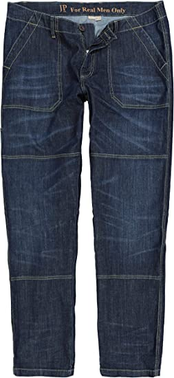 JP 1880 Herren große Größen bis 7XL, Worker Jeans, lässig weit mit Doppelnähten, 4 Pocket, Entspannte Bundweite, Weite Oberschenkel und Beinweite,