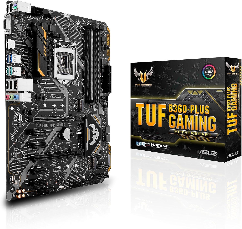 ASUS TUF B360-PLUS Gaming LGA1151 (300 Series) DDR4 HDMI VGA M.2 ATX Motherboard