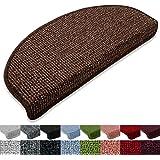 Stufenmatten London 15er SparSet 11 Farben sauber eingekettelt, starke Befestigung, stabile Winkelschiene (Cocoa)