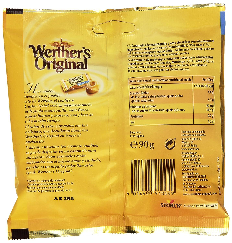 Werthers Original - Caramelos Clásicos de Mantequilla y Nata - 90 g: Amazon.es: Alimentación y bebidas